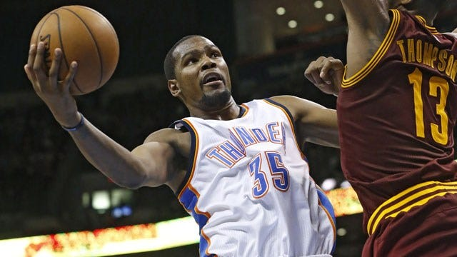 Durant, Thunder Close Out Cavaliers