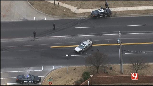 Elderly Woman In Critical Condition After Crash With OKC Police Officer