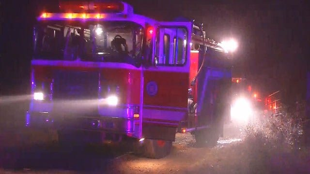OKC Firefighter Passes Out At House Fire Scene