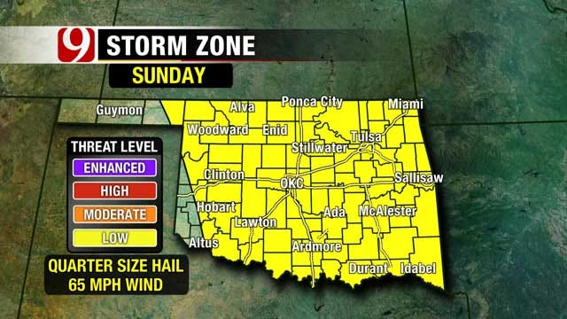 Showers And Storms Move Through Oklahoma Sunday