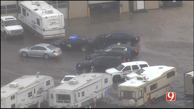Standoff At Purcell RV Dealership Ends Peacefully, Suspect In Custody