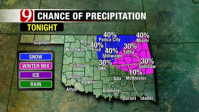 Storm System Brings Cold Temps, Gusty Winds, Possible Snow To OK
