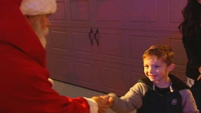 Christmas Surprise For Son Of Officer Hurt In Wreck
