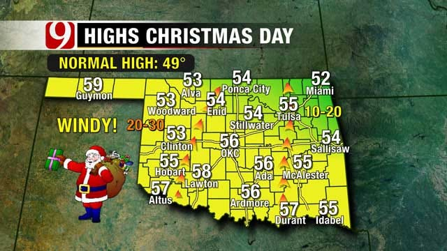 Cold Christmas Shaping Up For Most Of Oklahoma