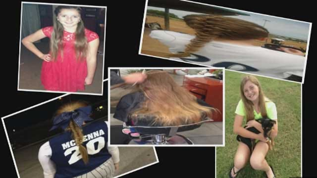 12-Year-Old Donates Hair To Locks Of Love