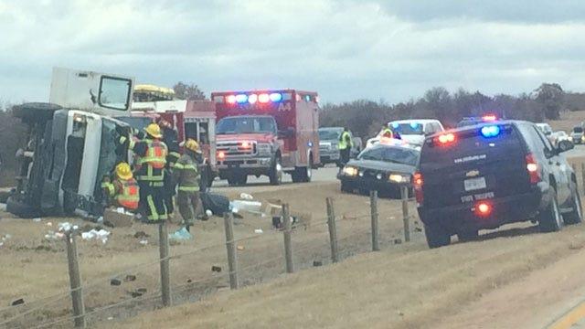 Crash Shuts Down SB Lane Of I-35 Near Guthrie