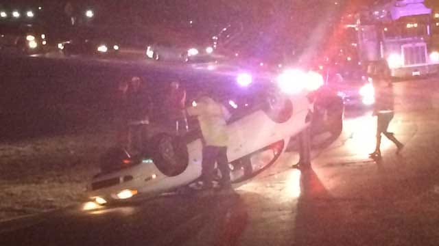Rollover Accident At Northbound Broadway Ext. Ramp