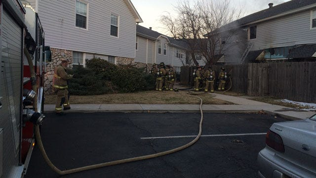 Firefighters Battle Blaze At NW OKC Apartment Complex
