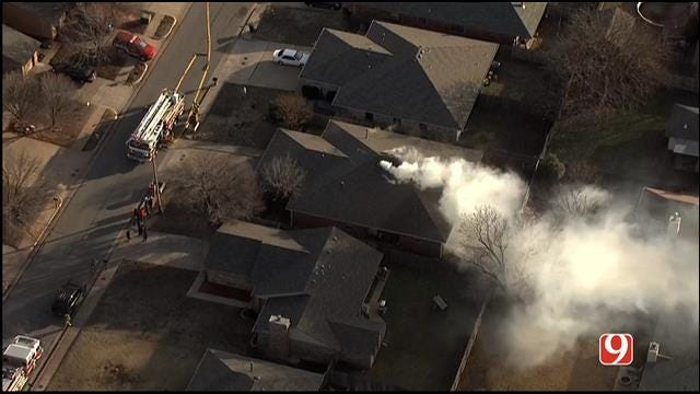 Crews Battle House Fire In Edmond