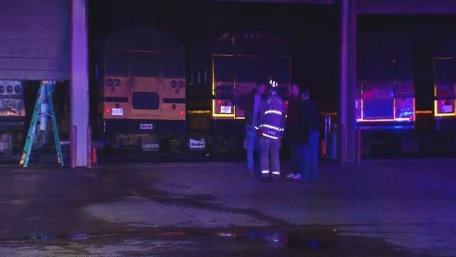 Classes Canceled At Crooked Oak Schools Wednesday Following Bus Barn Fire
