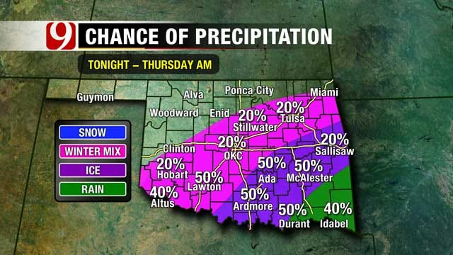 Latest Update On Chance Of Winter Weather In Oklahoma
