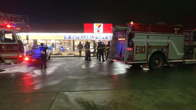 One Critical After Car Crashes Into 7-11 In NW Oklahoma City