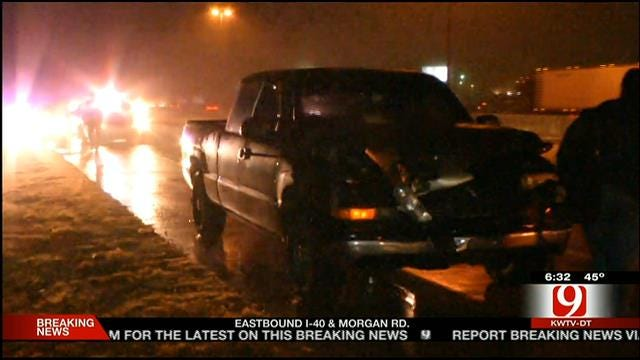 Pedestrian Killed After Being Hit By Pickup On I-40 In OKC