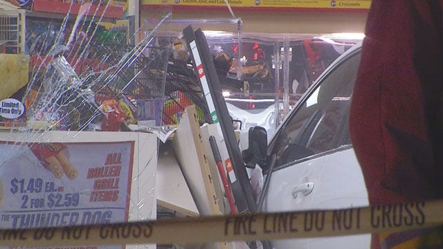 Witnesses Describe Horrific Scene After Car Crashes Into OKC 7-11