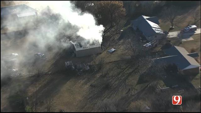 Crews Battle Structure Fire In NE Oklahoma City