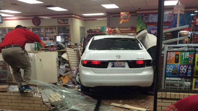 Mother, Daughter Recall Crash At NW OKC Convenience Store
