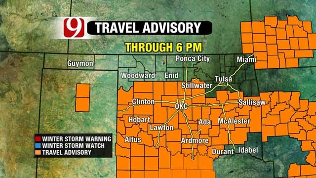 Freezing Drizzle, Light Snow To Cause Travel Issues In Parts Of OK