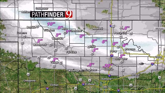 Winter Weather Cancels Schools, Causes Traffic Issues In Northern OK