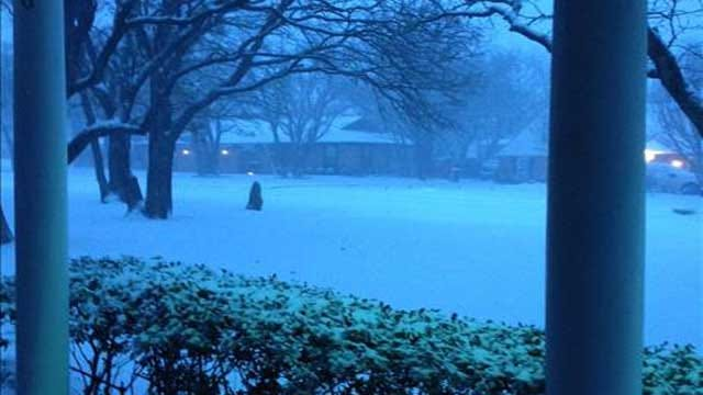 First Winter Storm Of 2014 Moving Across Oklahoma