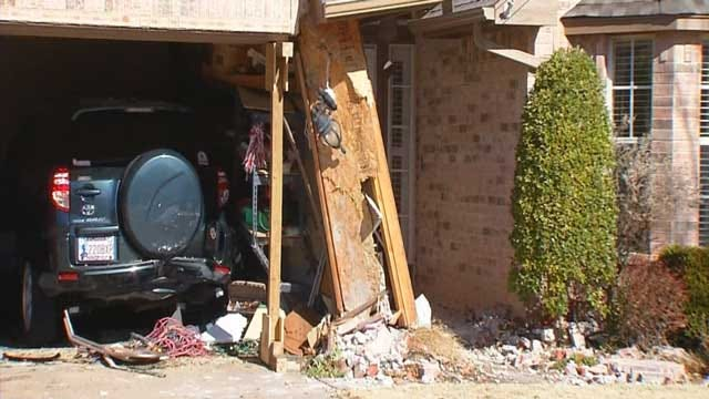 Man Smashes Car Into House Garage In Edmond