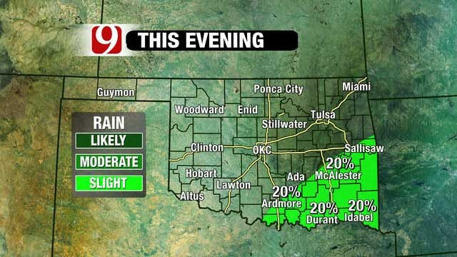 Storm System To Bring Cold Temps, Light Rain To Oklahoma