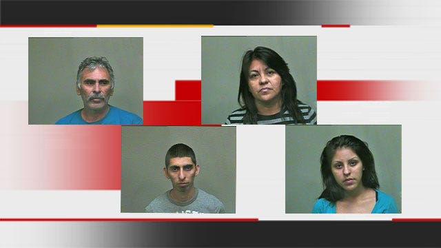 Pounds Of Meth Discovered During Traffic Stop, 4 Arrested