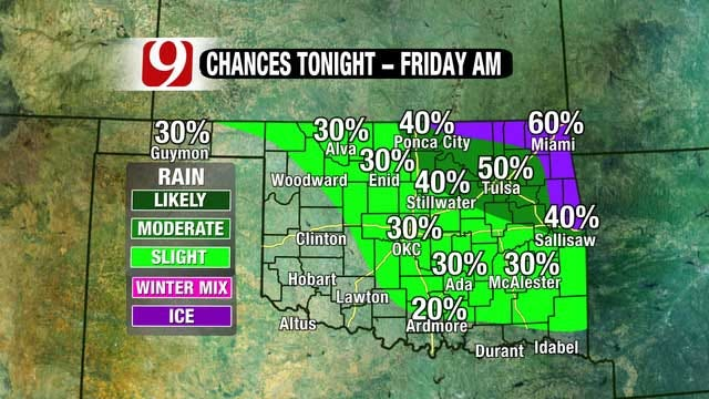 Storm System Could Bring Freezing Rain, Snow To OK This Weekend