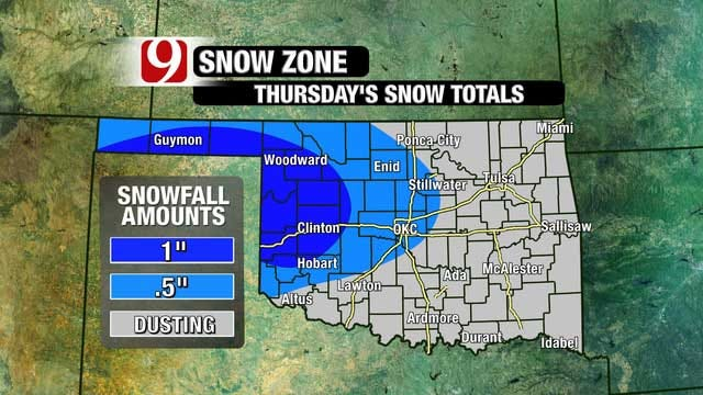Dangerous Wind Chills Surge Into OK Tuesday Night