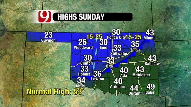 Temperatures Above Freezing Saturday, Another Cold Front Arrives Sunday