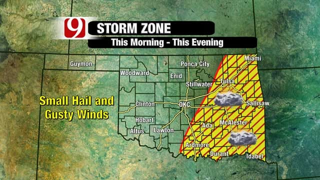 Showers, Thunderstorms Moving Across Parts Of Oklahoma