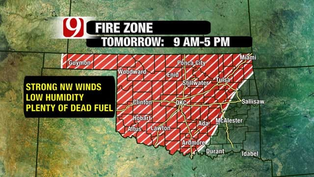 Fire Danger Will Enhance Tuesday Afternoon