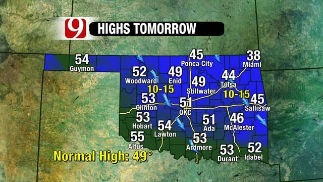 High Fire Risk Remains As Arctic Blast Moves In To OK