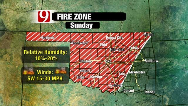 Dry, Windy Weather Could Spark Oklahoma Wildfires