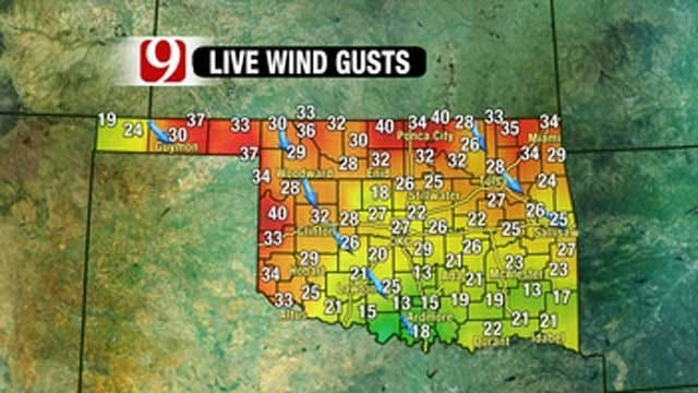 Strong Winds Gusts Increase Wildfire Danger In Oklahoma