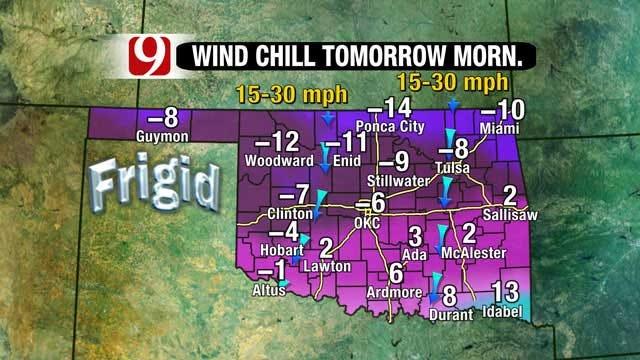 Oklahoma Bracing For Blast Of Arctic Air