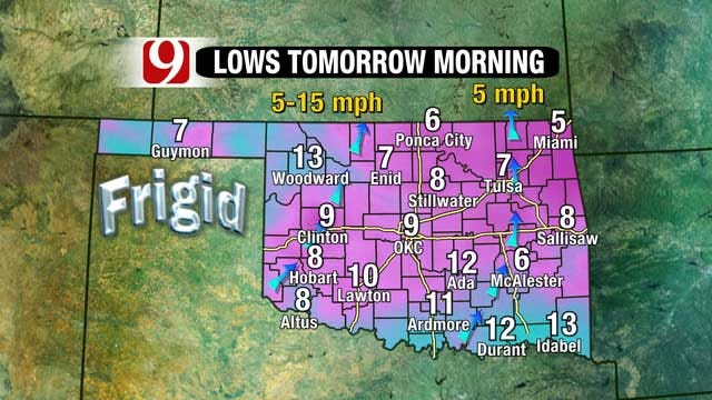 Arctic Air Lingers In Oklahoma Ahead Of Warm Weekend Warm Front