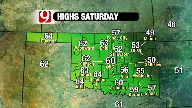 Frigid Air Moves Into Oklahoma But Out By The Weekend