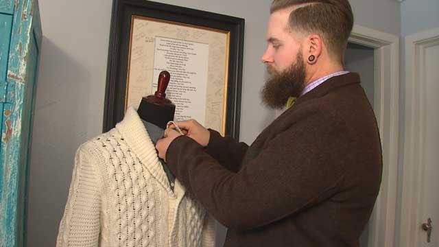OKC Bow Tie Maker Creates 'Cancer Sucks' Tie For Friend With Cancer