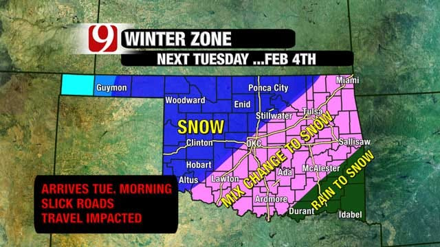 Winter Weather Predictions For OKC Metro
