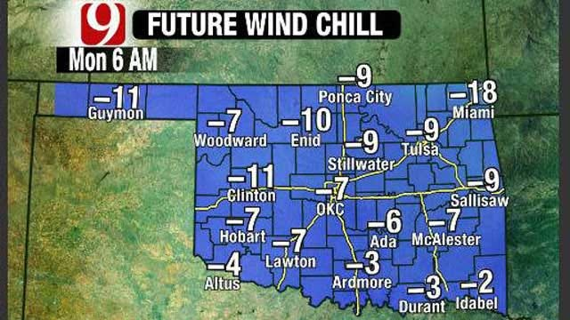 Bitter Cold Temperatures, Snow Arrive In Oklahoma