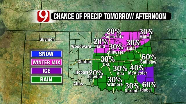 Storm System Moving Into Oklahoma Wednesday