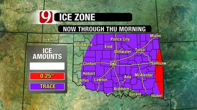 Oklahoma Enveloped In Winter Dreariness