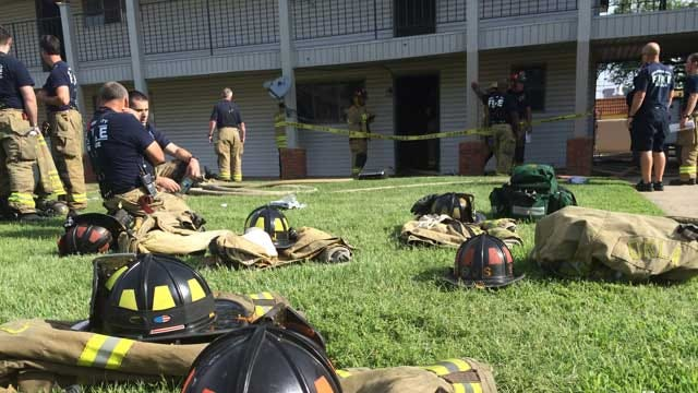 One Injured After Fire At NW Oklahoma City Apartment