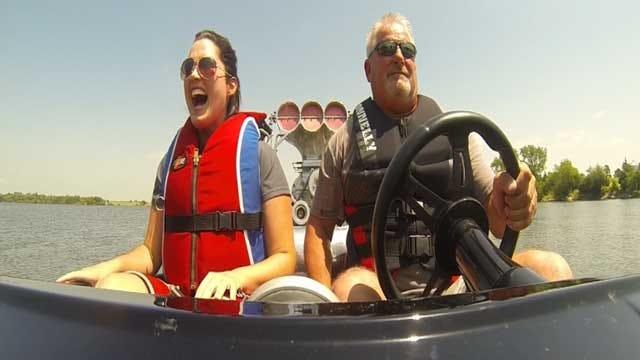 Lake El Reno Hosts 'Smoke On The Water' Drag Boat Races