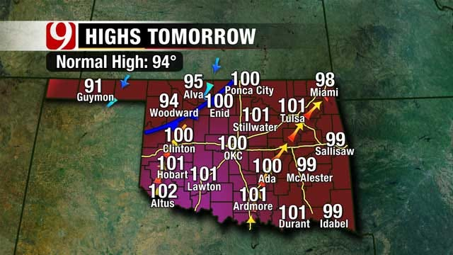 Heat Continues Through Weekend, Big Cool Down Moves In Midweek