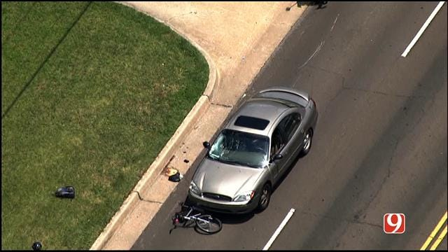 Bicyclist Injured After Being Hit By Car In NW OKC