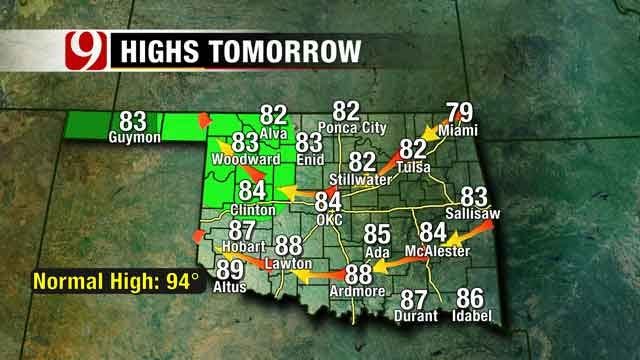 Cold Front Moving Into Oklahoma