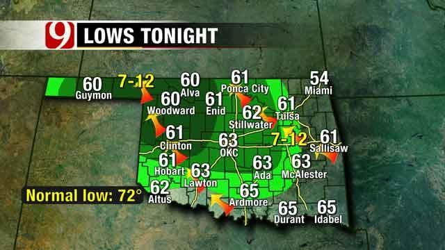 Rain Chances Increase For Western Oklahoma