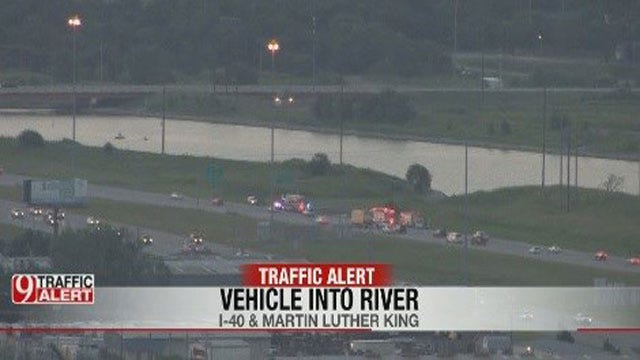 Vehicle Drives Into River Along I-40 In OKC