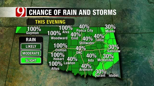 Showers, Thunderstorms Continue Through Wednesday In Oklahoma